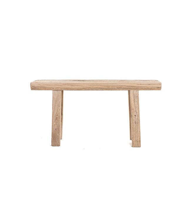 Short bench elm wood #19 - L96cm