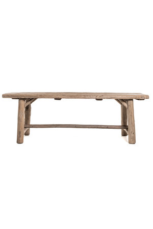 Old table elm wood with wooden legs