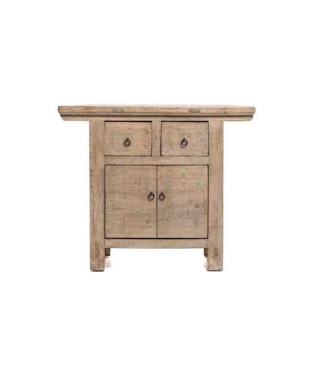 Sidetable with 2 drawers and 2 doors, elm
