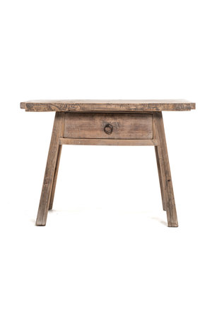 Sidetable with 1 drawer elm wood