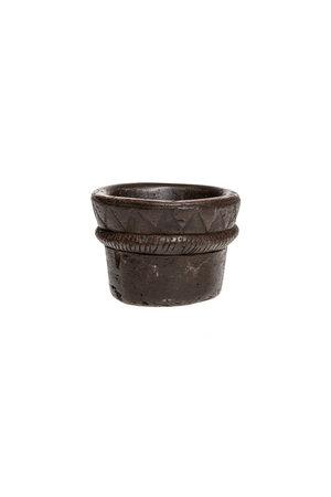 Oude stenen bowl met motief #4 - Indië