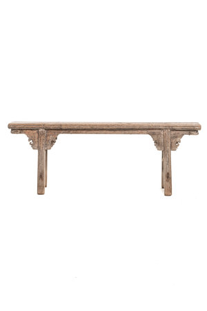 Small bench with decoration
