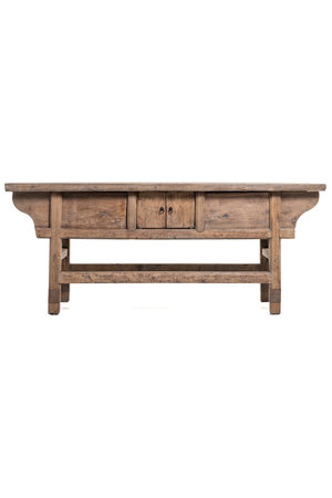 Console elm with compartments