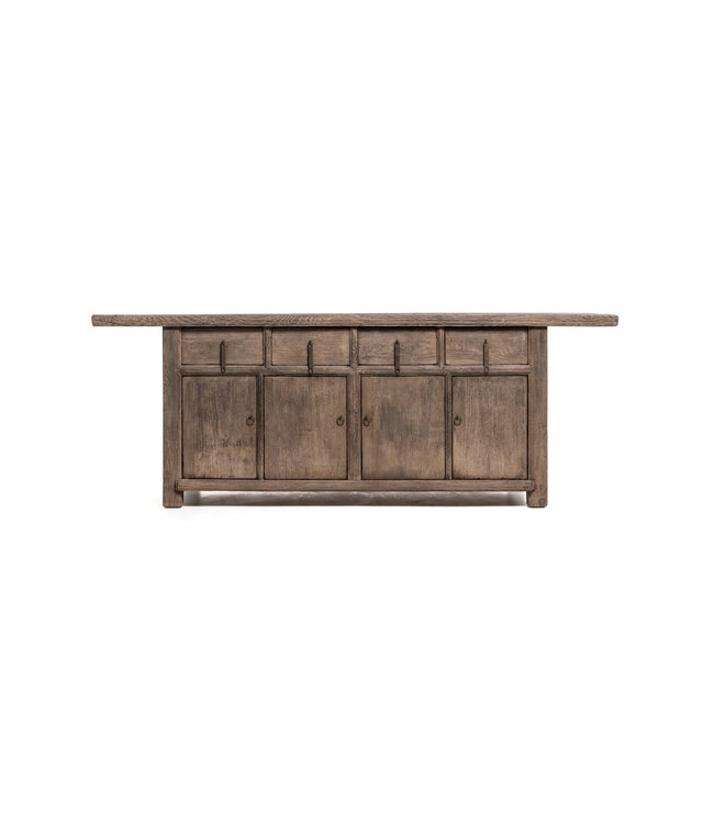 Buffet cabinet with 4 doors and 4 drawers, elm