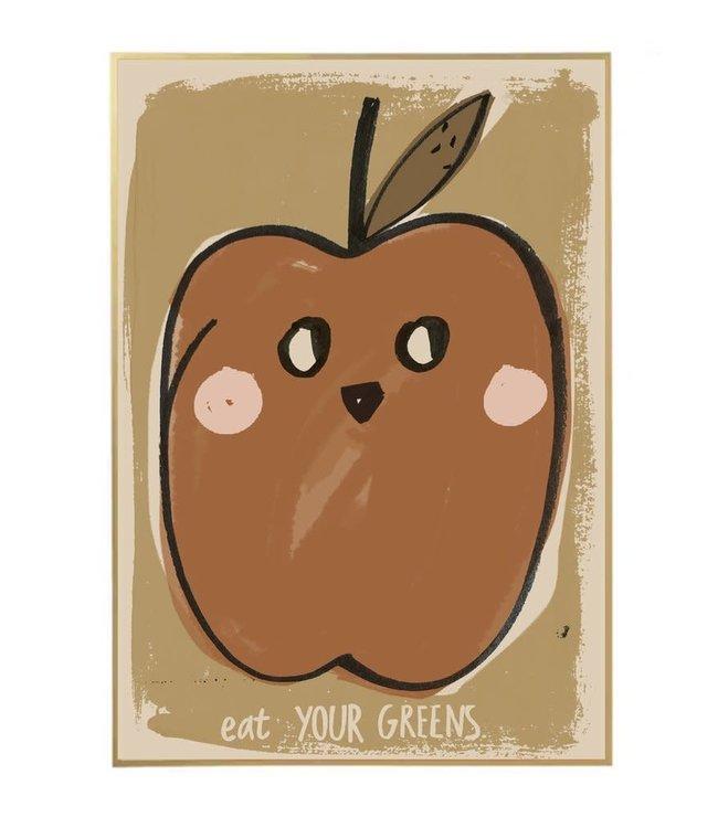 Schoolposter - eat your greens
