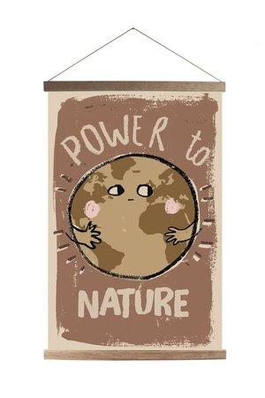 Studio Loco Canvas schoolposter - power to nature