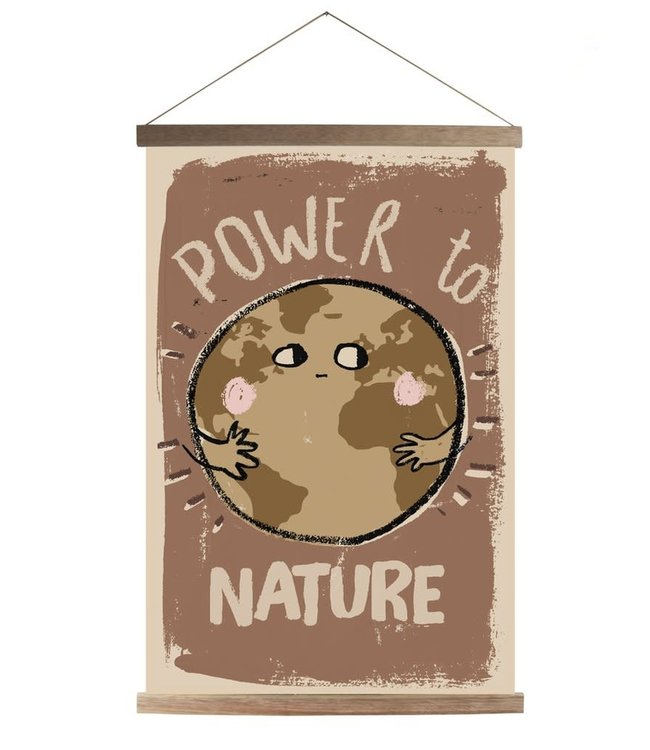 Canvas schoolposter - power to nature