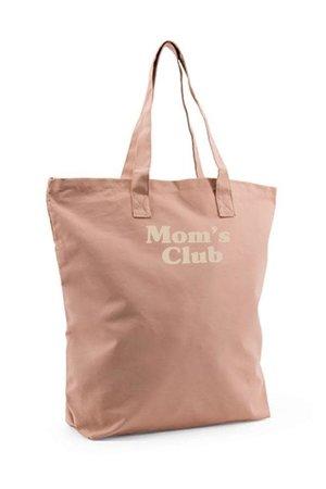 Studio Loco Cotton totebag mom's club - nude pink