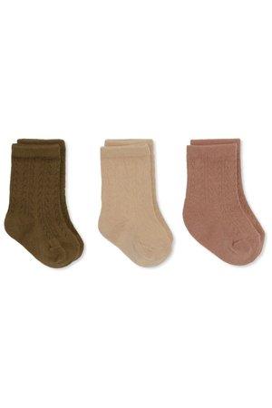 Konges Sløjd 3 Pack pointelle socks - brush/moonlight/breen