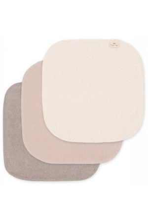 Konges Sløjd 3 Pack terry wash cloths - shades of sand