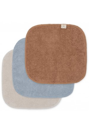 Konges Sløjd 3 Pack terry wash cloths - thunder