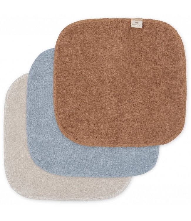 3 Pack terry wash cloths - thunder