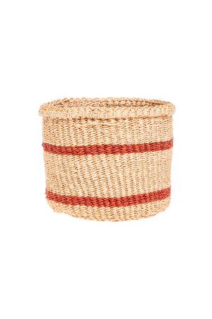 Couleur Locale Sisal basket Kenya - earth colors, practical weave  #264