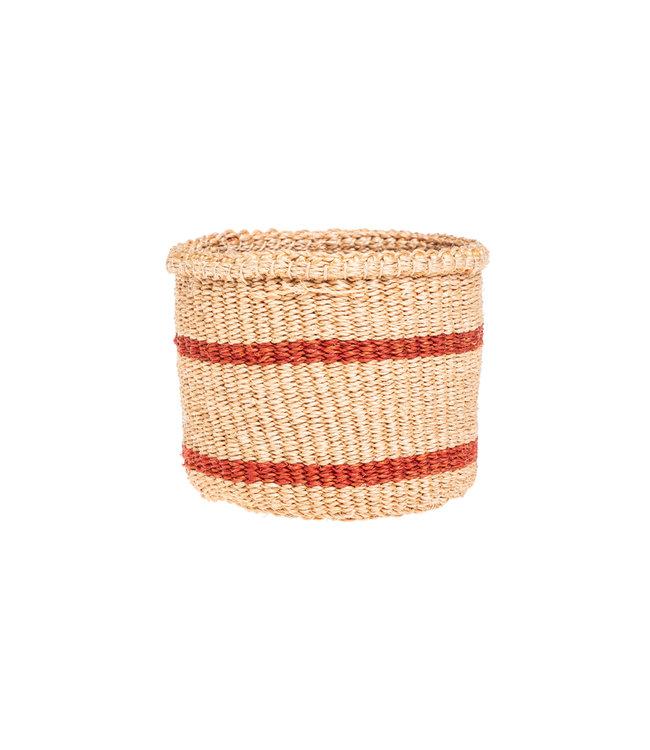 Sisal basket Kenya - earth colors, practical weave  #264