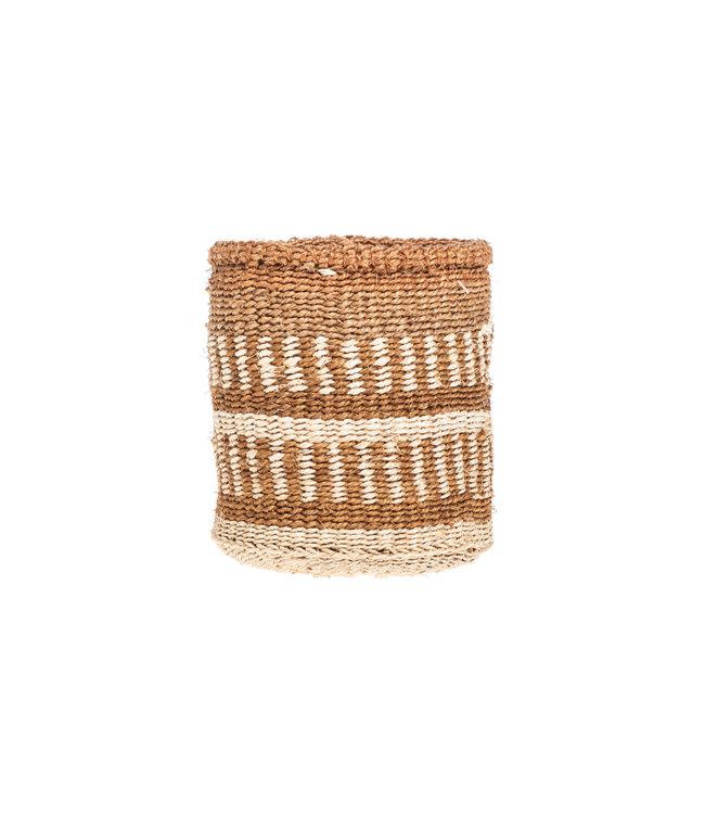 Couleur Locale Sisal basket Kenya - earth colors, practical weave #263