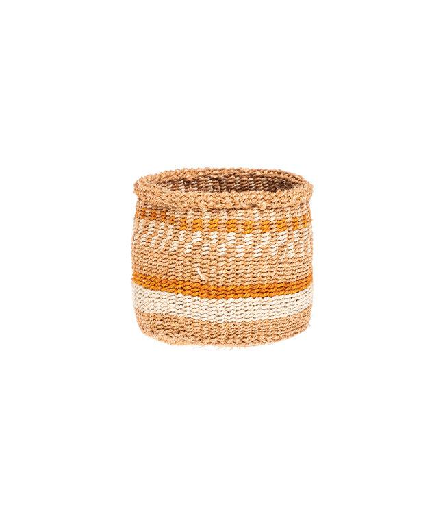 Couleur Locale Sisal mandje Kenia - aardetinten, practical weave  #265