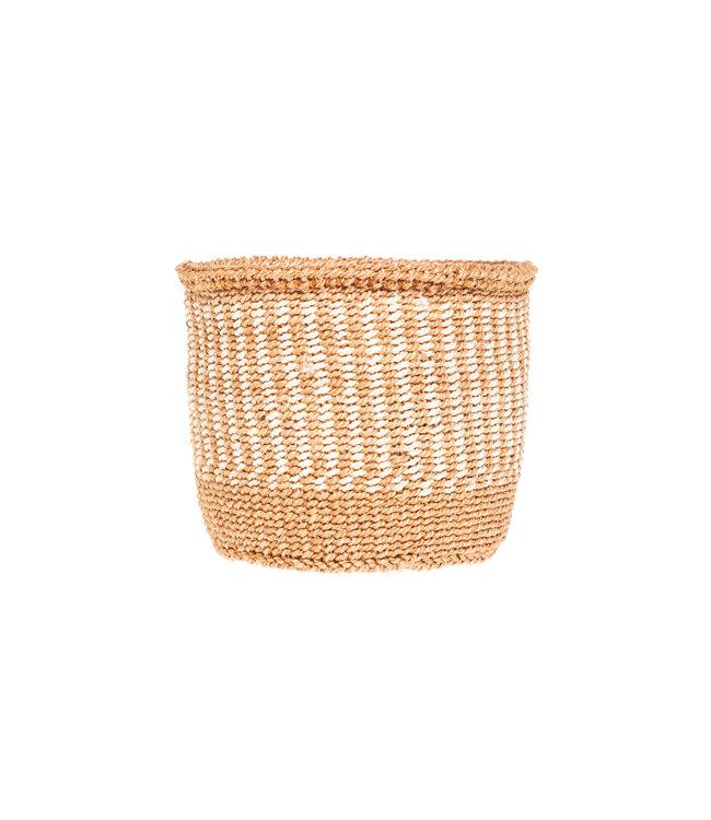 Couleur Locale Sisal basket Kenya - earth colors, practical weave #266