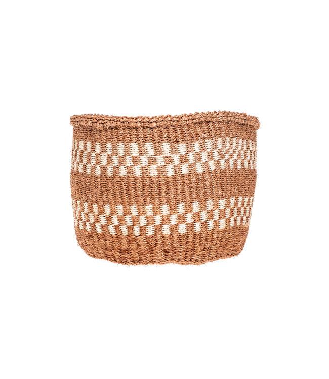Couleur Locale Sisal basket Kenya - earth colors, practical weave #267
