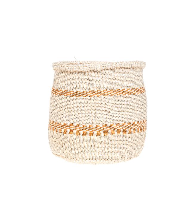 Sisal basket Kenya - earth colors, practical weave #268
