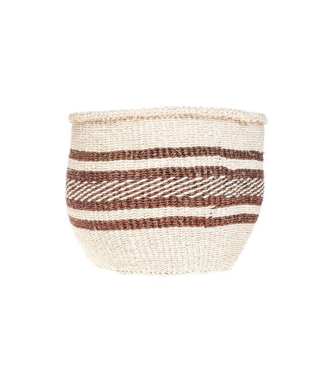 Couleur Locale Sisal basket Kenya - earth colors, practical weave #270
