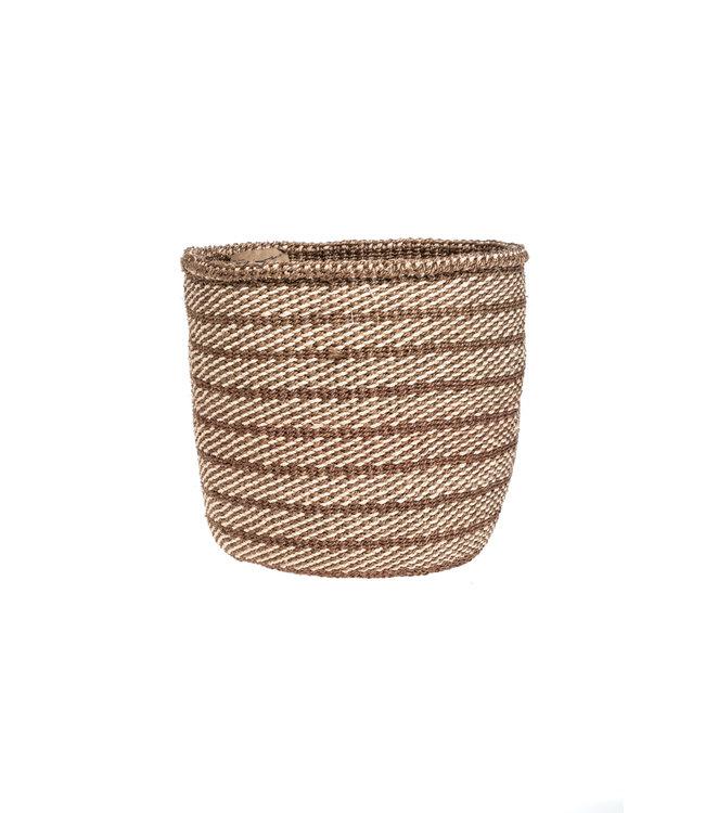 Couleur Locale Sisal basket Kenya - earth colors, practical weave #271
