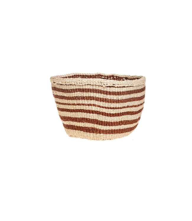 Couleur Locale Sisal basket Kenya - earth colors, practical weave #272
