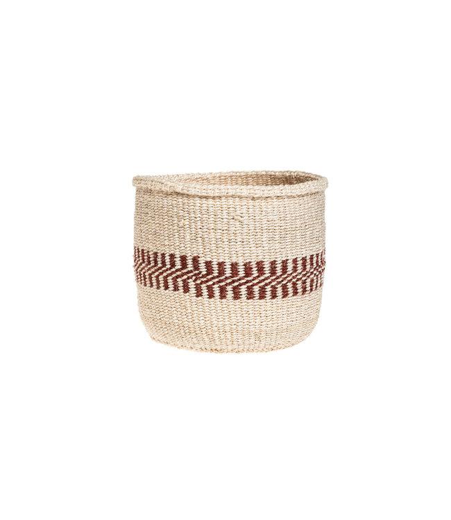 Couleur Locale Sisal basket Kenya - earth colors, practical weave #274