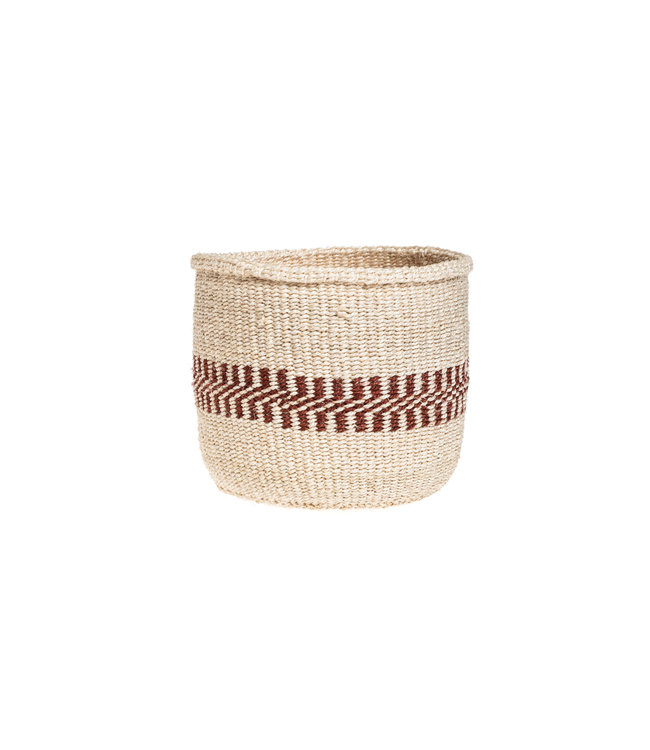Couleur Locale Sisal mandje Kenia - aardetinten, practical weave #274