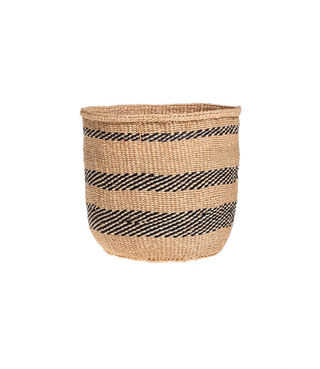 Couleur Locale Sisal basket Kenya - earth colors, practical weave #275