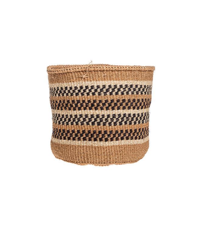 Couleur Locale Sisal basket Kenya - earth colors, practical weave #276