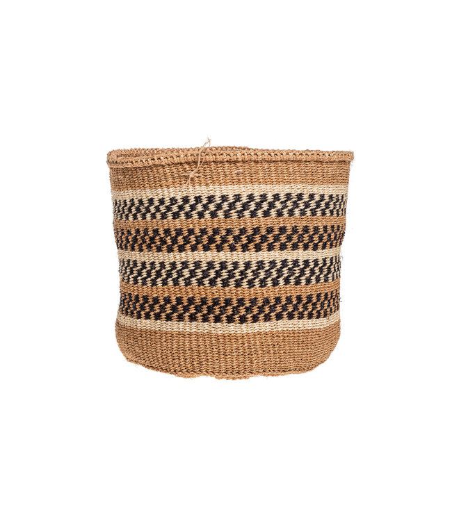 Couleur Locale Sisal mandje Kenia - aardetinten, practical weave #276