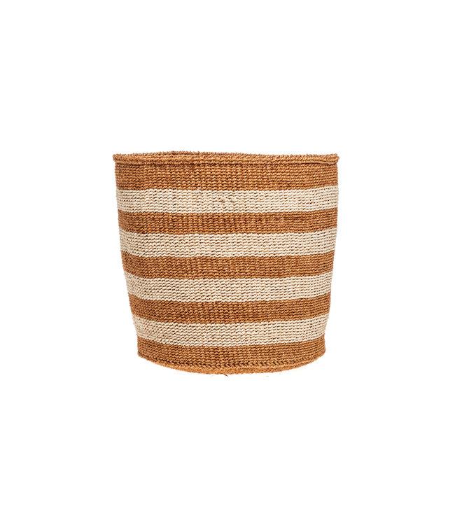 Couleur Locale Sisal basket Kenya- earth colors, practical weave #277
