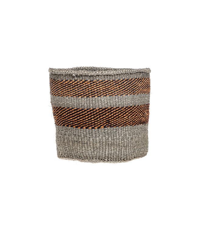 Couleur Locale Sisal basket Kenya - earth colors, practical weave #278