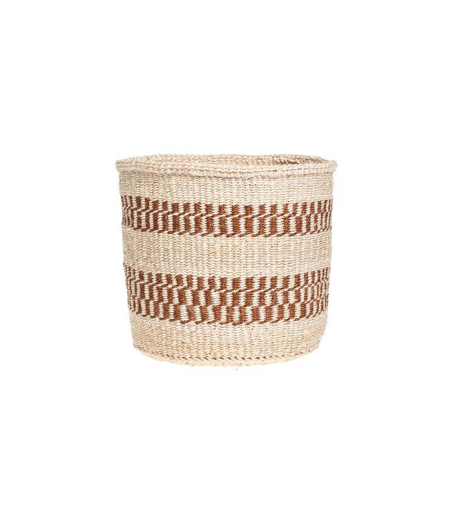 Sisal basket Kenya - earth colors, practical weave #279