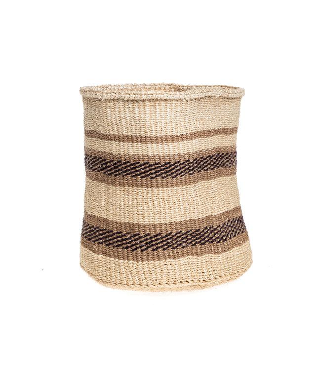 Couleur Locale Sisal mandje Kenia - aardetinten, practical weave #280