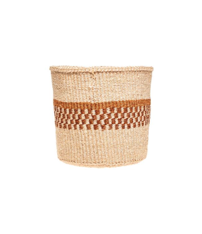 Couleur Locale Sisal basket Kenya - earth colors, practical weave #281