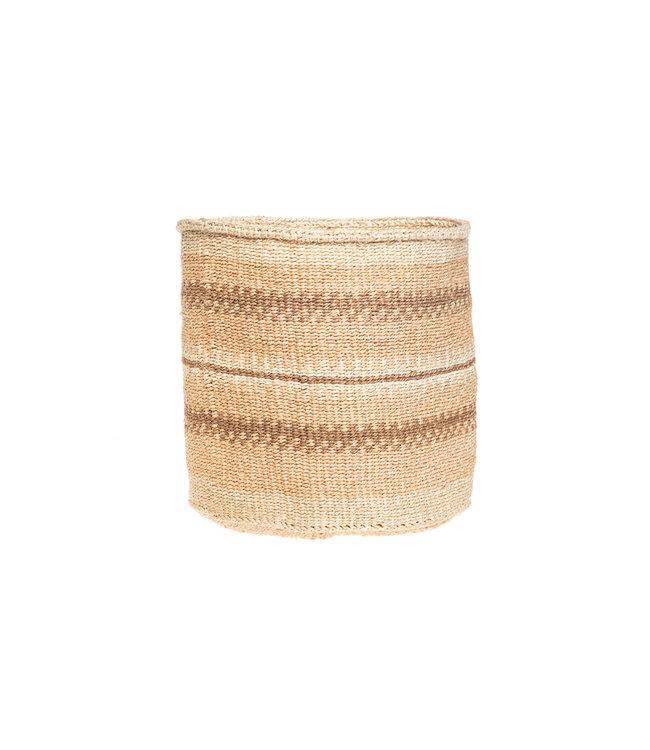 Couleur Locale Sisal basket Kenya - earth colors, practical weave #282