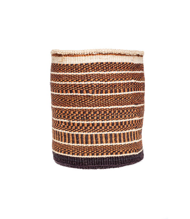 Couleur Locale Sisal mandje Kenia - aardetinten, practical weave #283