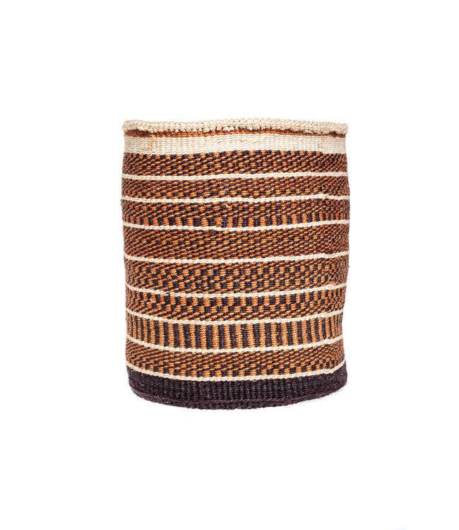 Sisal basket Kenya - earth colors, practical weave #283