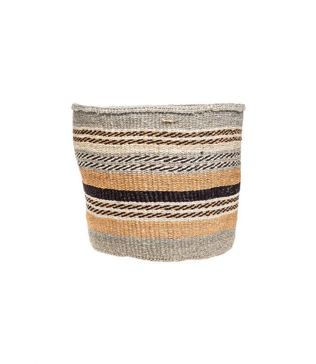 Couleur Locale Sisal basket Kenya - earth colors, practical weave #284