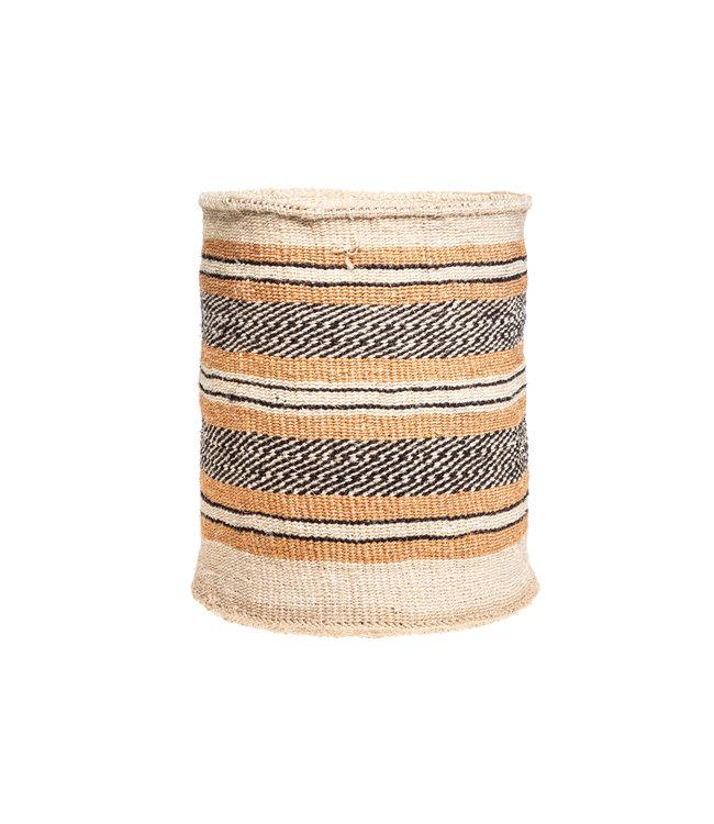 Sisal mandje Kenia - aardetinten, practical weave #286