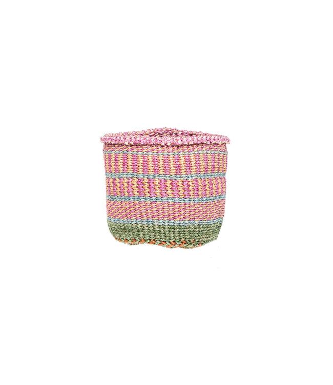 Sisal mandje Kenia - kleurrijk, practical weave #287