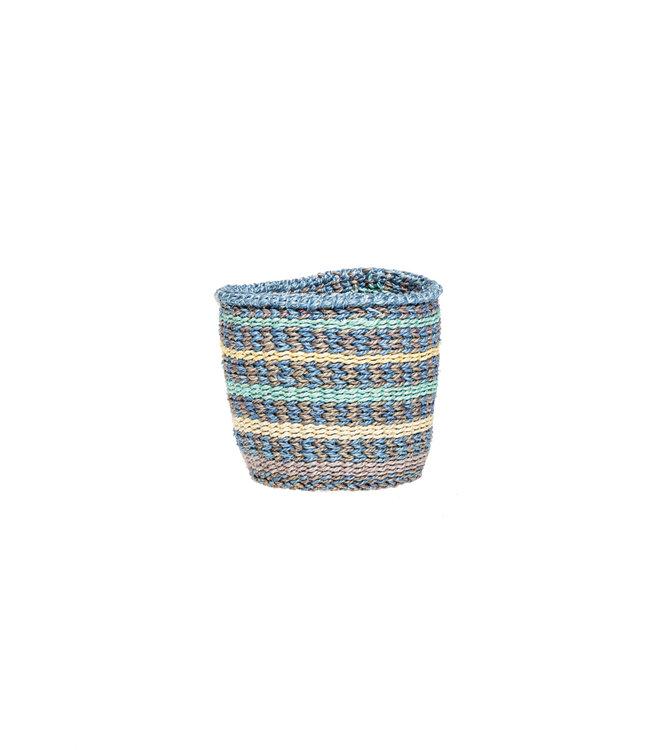 Sisal basket Kenya - colorful, practical weave #290