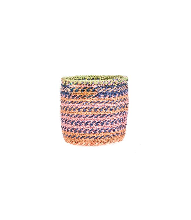 Sisal basket Kenya - colorful, practical weave #291