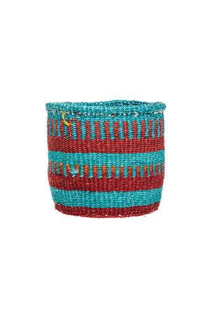 Couleur Locale Sisal basket Kenya - colorful, practical weave #293