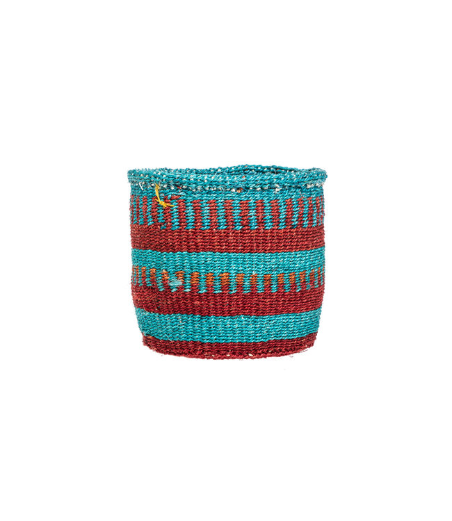 Couleur Locale Sisal mandje Kenia - kleurrijk, practical weave #293