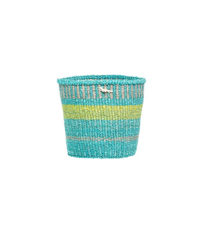 Sisal mandje Kenia - kleurrijk, practical weave #294