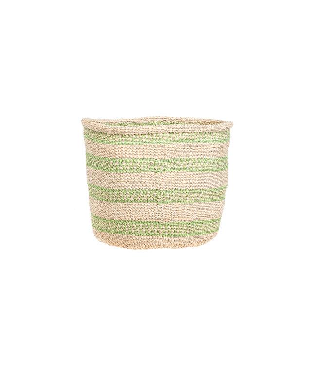Couleur Locale Sisal mandje Kenia - kleurrijk, practical weave #295