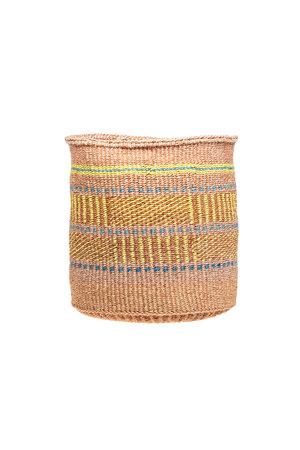 Couleur Locale Sisal basket Kenya - colorful, practical weave #296