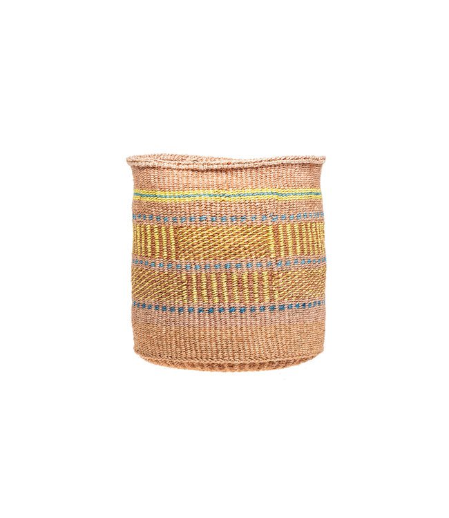 Sisal basket Kenya - colorful, practical weave #296